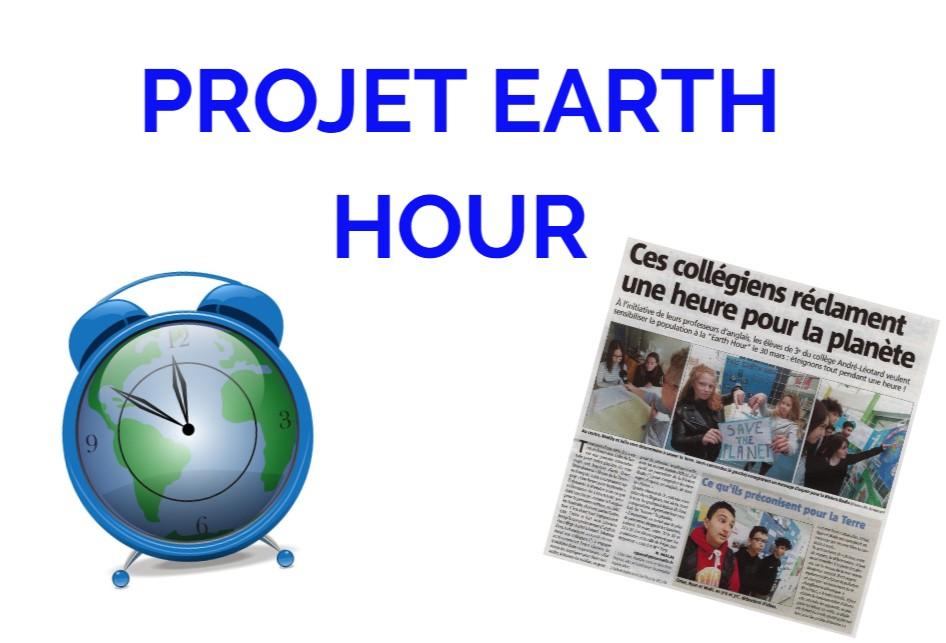 Mars 2019:  Projet Earth Hour