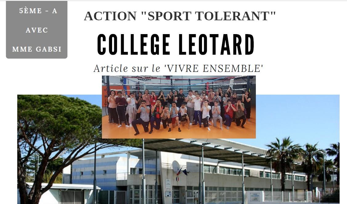 Action «Sport tolérant et vivre ensemble»