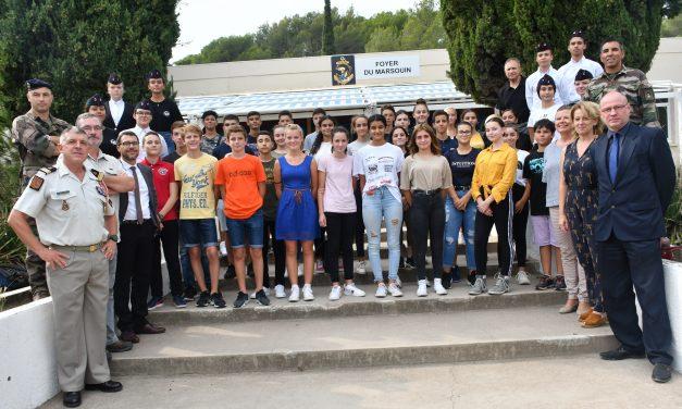 Réunion d'accueil des Cadets au 21e RIMA