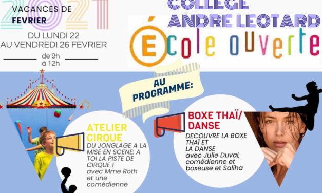 Vacances de février: Ecole ouverte au Collège André Léotard